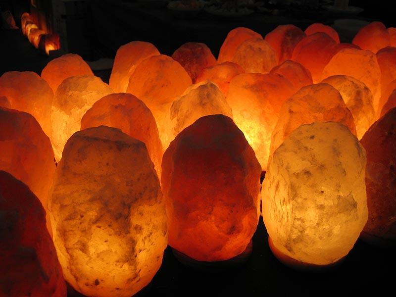 Lampes en cristal de sel de l'Himalaya