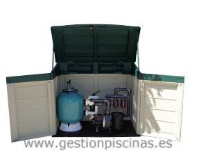 Casetas de superficie para instalación de depuradoras de piscinas.