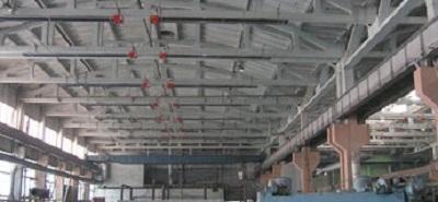 Tubi radianti Panrad per il riscaldamento industriale
