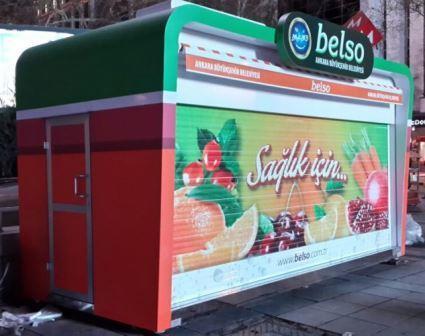 Kiosk für  Zeitung, Getraenke, Süssigkeiten, Neues Design und  Konzept: Laenge ab 3m Breite 2,40m Höhe 2,70m     Produktion: Findet in Istanbul statt Besichtigung des Werkes jederzeit möglich.