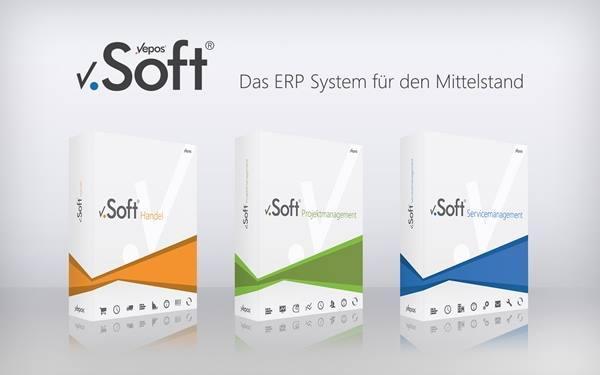 Die drei Editionen der ERP Lösung v.Soft