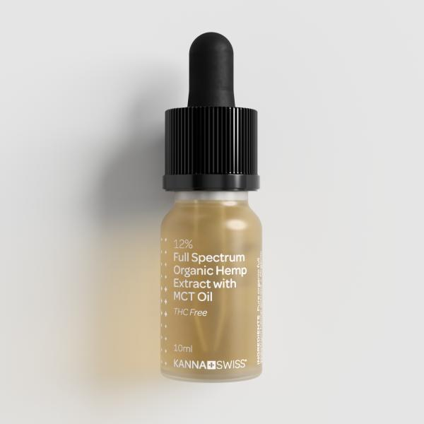 12% Full Spektrum Organic Hemp Extract with MCT Oil
