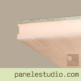 Panel con núcleo aislante y acabado decorativo contrachapado fenólico para cubiertas, tejados, entreplantas, forjados perdidos, tabiques y trasdosados. Diseñe su propio. www.panelestudio.com