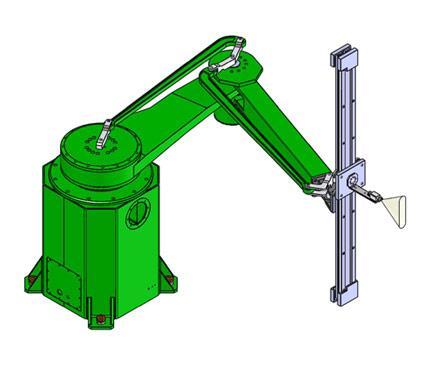 ROBOT de peinture CMA ROBOTICS GR 430 SCARA version standard avec quatre degrés de liberté , adapté à la peinture en ligne ou pour les bords de panneaux empilés