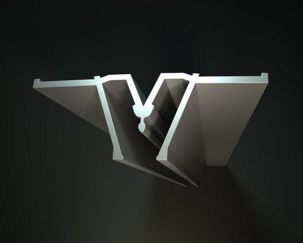 Profile aluminum spacer
