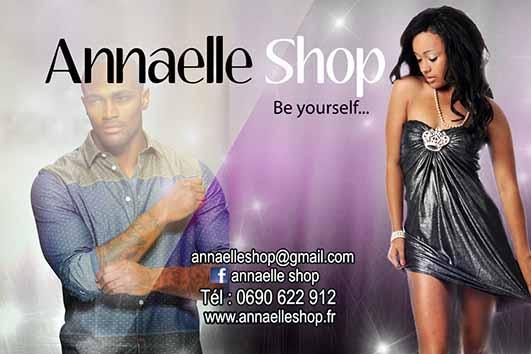 Création et conception de visuel pour carte de visite pour ANNAELLE SHOP.