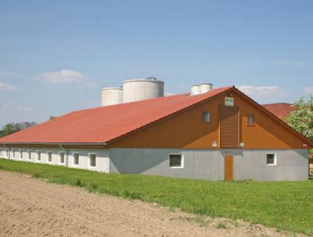 Agrarbau: Ställe, Hallen, Fundamente