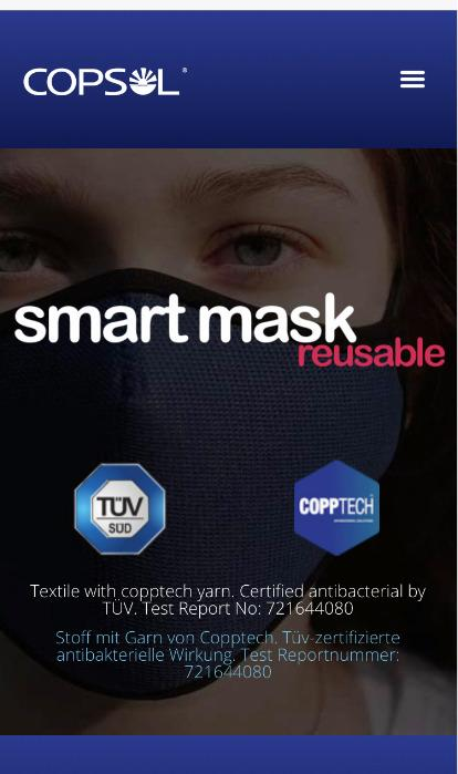 Reusable Smart Mask with Copptech Yarn