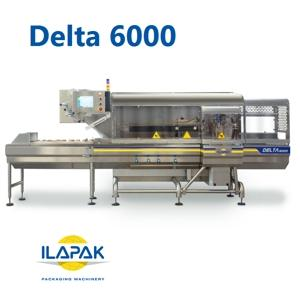 The new ILAPAK Delta 6000 is a fully modular design flowrapper that offers complete IP65 protection, enabling full wash down capability, even of the sealing elements.