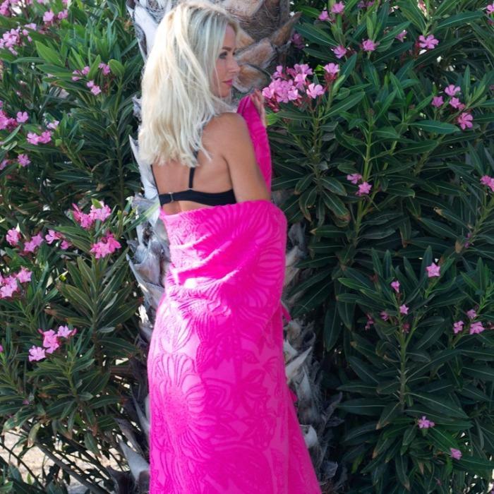Hammam Beachtowel Flowerbomb Fuchsia