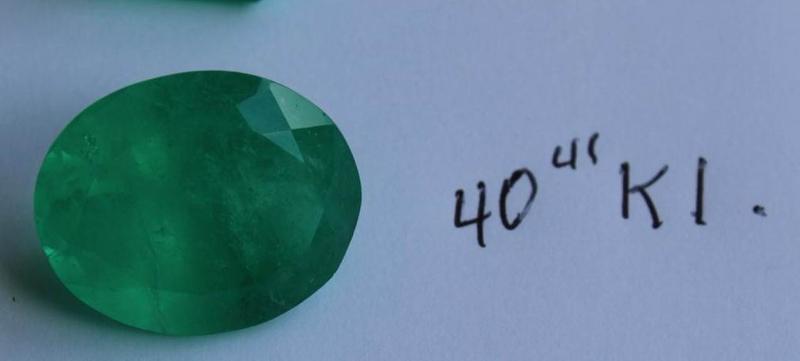 Esmeralda Calidad Premium, ideal para Coleccionistas, Inversionistas y personas de buen gusto. Esmeralda talla Oval de 40,41 Quilates. Precio Valor: 18.990€