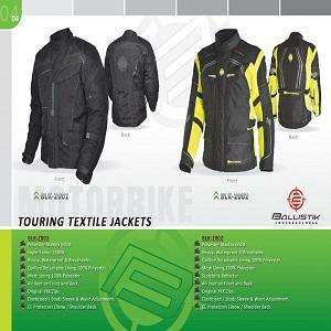 Polyester Maxtex 600D. Super Fabric 1280D. Ressia, Waterproof & Breathable.  Quilted Detachable Lining 100% Polyester.  Mesh Lining 100% Polyester. Air Vent on Front and Back.