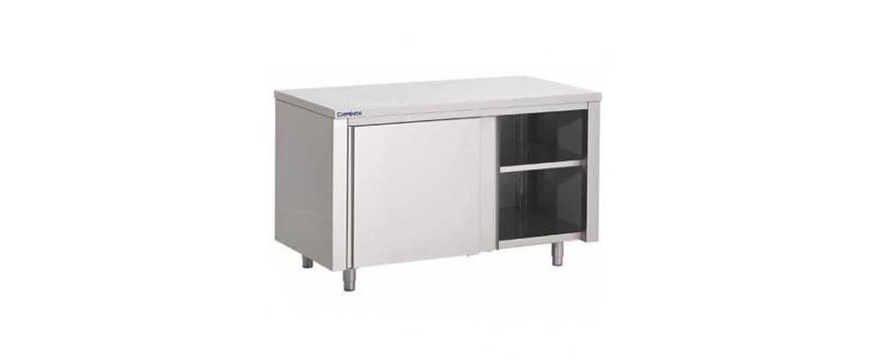 Table armoire en inox pour cuisine professionnelle