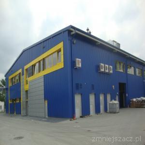 Budowa hali mag-prod o pow.2800 m3 w Zakł.Prod Wyr.Gumowych Partyni.
