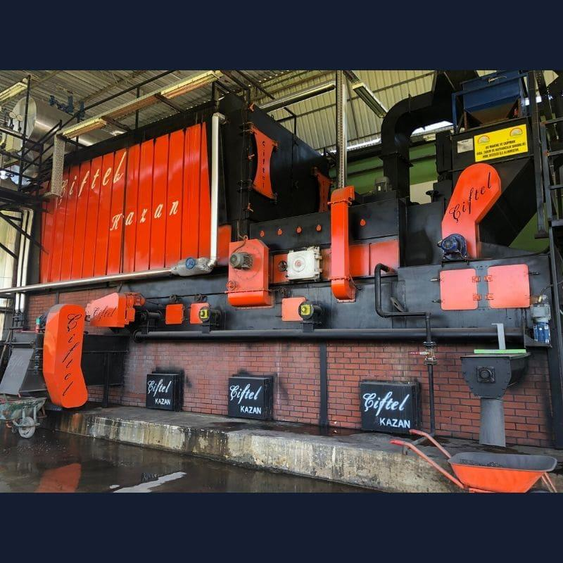Full automatic grate chain, water tube boiler