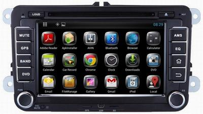 Ouchuagbo android 4.2 VW Polo Golf 5 gps radio