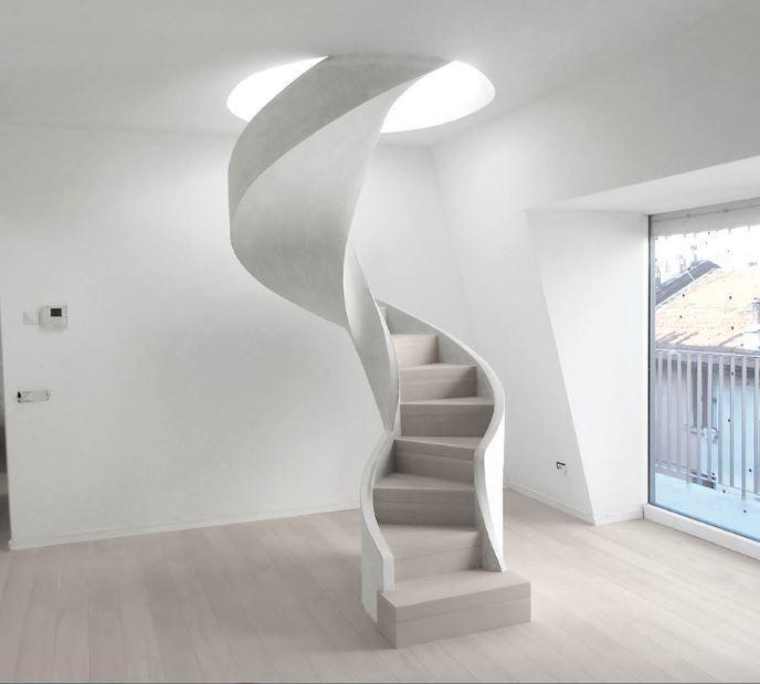 scala elicoidale in cemento