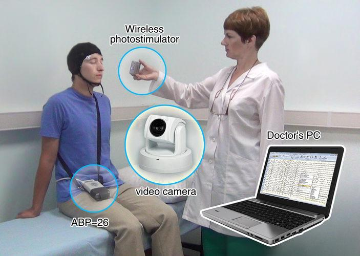 EEG-recorder is used for short-term and continuous EEG studies – in a hospital room or at patient's home, including EEG-video monitoring for the differential diagnosis of epilepsy.