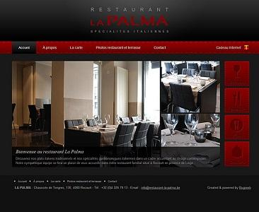 This is an example of website that we produced for a restaurant. www.restaurant-la-palma.be