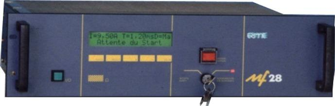The firing units MF 28 are highly accurate current generators, programmable in amplitude and duration, specifically developed for use on pyrotechnical elements where user safety is at stake.
