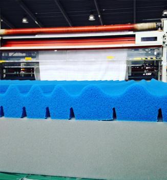 Produzione di Lastre interne per materassi, cuscini, complementi materassi.