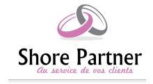 Logo de l'entreprise. En effet Shore Partner est au service des clients de ses clients et en vrai alliance avec ses clients
