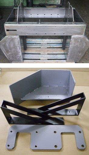 Welded thin sheet metal parts.
