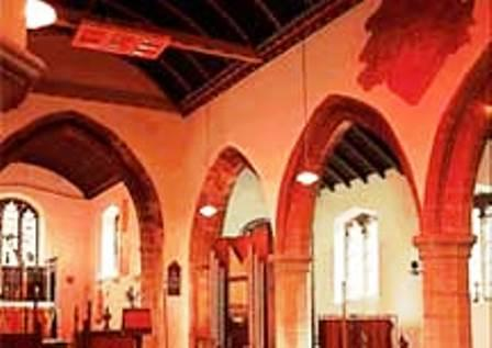 Infrared heater is ideal for use in Churches