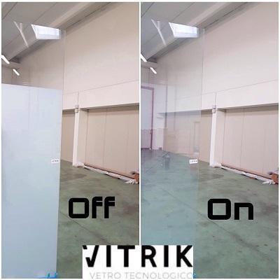 Vetro LCD a comando con opzione parziale