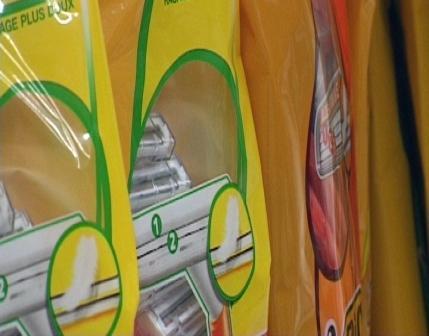 Emballage flexible pour produits d'hygiène. Packaging flexible pour produits d'hygiène.
