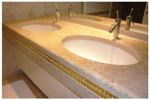 Realizzazione di top da bagno, lavelli,