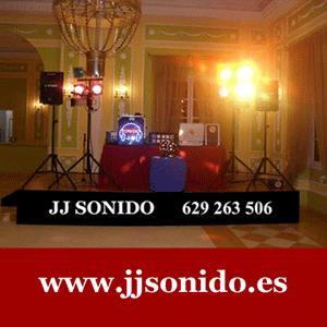 JJ SONIDO empresa de Sevilla capital especializada en alquiler de sonido profesional para Discotecas móviles con Disc Jockey, Bodas, Fiestas, Eventos.