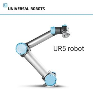 The lightweight and flexible Universal Robot UR5 lets you automate repetitive and dangerous tasks with payloads of up to 5 kg. Low-weight collaborative processes such as picking, placing and testing.
