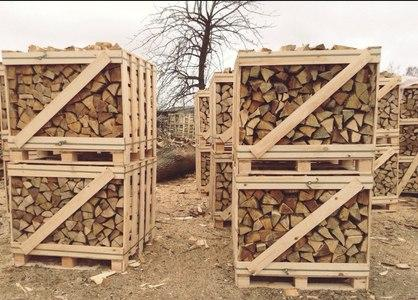 chopped wood from alder, birch, hornbeam, oak and ash