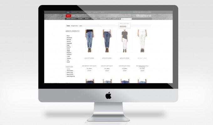 Descrizione: progettazione e sviluppo del sito eCommerce per Deliberti, nota catena di boutique di abbigliamento e calzature di prestigio.