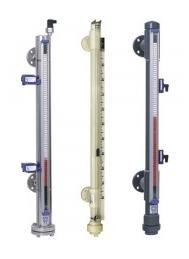 Construction simple, convient pour des conditions de pression et de température élevées. Indication du niveau par transmission magnétique.