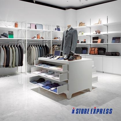 Apparel shop designed by Store Express.
