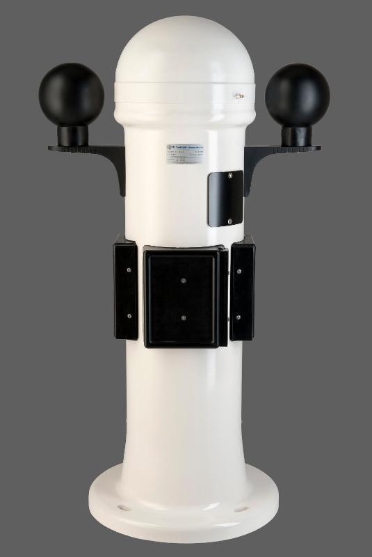Der Reflexionskompassstand GFK-BII-12 erfüllt alle nationalen und internationalen Vorschriften für den Einsatz auf Schiffen in der weltweiten Seeschifffahrt (Typ A1, Klasse A).