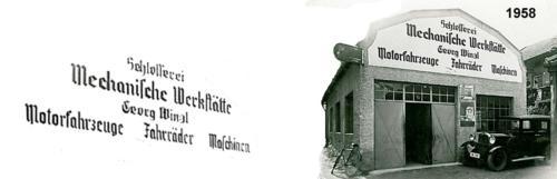 Gebäude 1958 bei Gründung