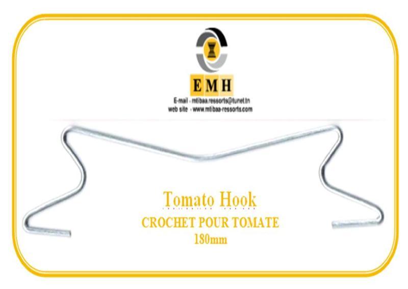 Crochet métal pour le palissage de tomate
