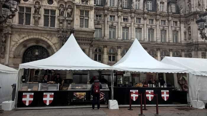 exemple de stand savoyard pour vos marché de Noël par la Société Restauration Evènementielle
