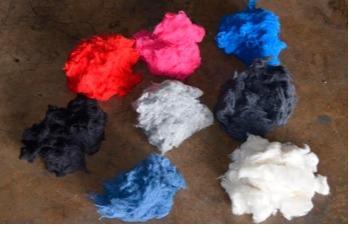 Fibra regenerada algodón blanco, negro, colores