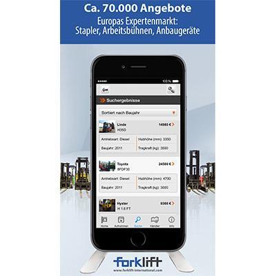 Mit der Forklift App haben Sie auch unterwegs Zugriff auf ca. 70.000 Angebote. https://itunes.apple.com/de/app/forklift/id911803842?mt=8
