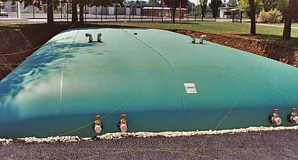 Flexible, transportable Tanks bis 500 m³, für Kläranlagen