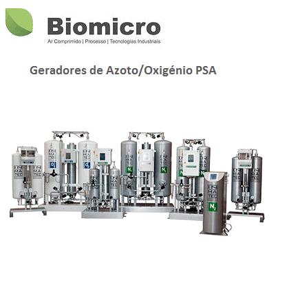 Geradores de Azoto - Oxigénio PSA
