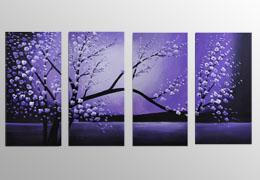 100% hand painted Flowers paintings Framed wall art www.designartdecor.com
