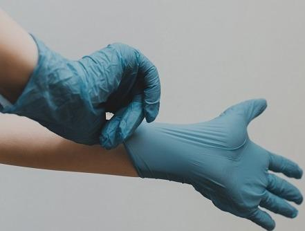 Nitrile gloves. With CE and FDA certificate.