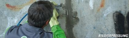 Injectiewerkzaamheden in beton.