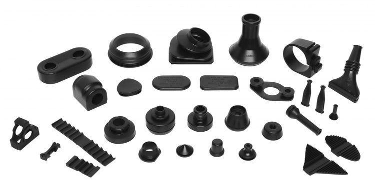 Moulded rubber parts - grommets