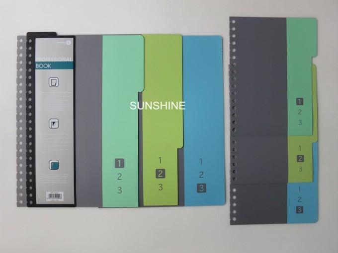 plastic PP notebook exercise book cover divider